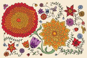 flower, illustration, pattern
